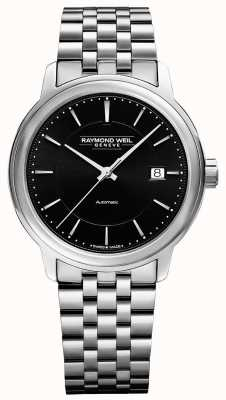 Raymond Weil Men's | Maestro | Automatic | Black Dial | Stainless Steel 2237-ST-20011