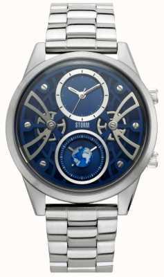 STORM   Globe-X Blue   Stainless Steel Bracelet   Blue Dial   47441/B