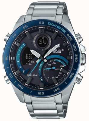 Casio | Edifice Bluetooth Solar | Stainless Steel | Blue Accents | ECB-900DB-1BER