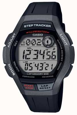 Casio | Sport Watch, Step Tracker | Black Rubber Strap | WS-2000H-1AVEF