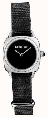 Briston | Clubmaster Lady | Single Black Nato Strap | Black Dial | 19924.S.M.1.NB - SINGLESTRAP