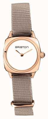 Briston | Clubmaster Lady | Single Taupe Nato | Rose Gold PVD Case | 19924.SPRG.M.2.NT - SINGLESTRAP
