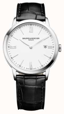 Baume & Mercier | Mens Classima | Black Leather Strap | White Dial | M0A10323