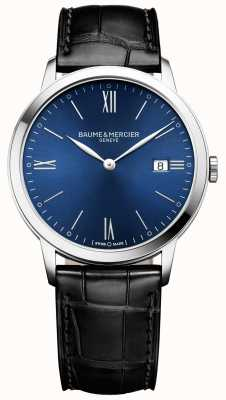 Baume & Mercier | Mens Classima | Black Leather Strap | Blue Dial | M0A10324