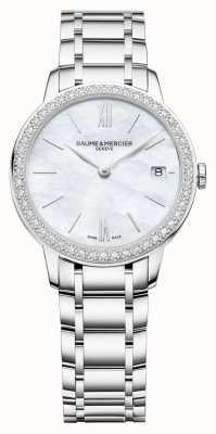 Baume & Mercier | Womens Classima | Diamond Bezel | Stainless Steel Bracelet M0A10478