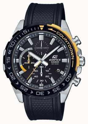 Casio | Edifice Classic | Black Rubber Strap | Day Date Display | EFR-566PB-1AVUEF
