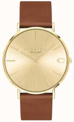 777f365383006 Coach Mens Charles Silver Mesh Bracelet Black Dial Watch 14602144 ...