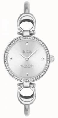 Coach | Womens | Park | Steel Bangle Bracelet | White Dial | 14503448
