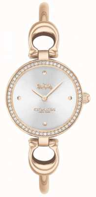 Coach | Womens | Park | Rose Gold Bangle | Silver Dial | 14503447