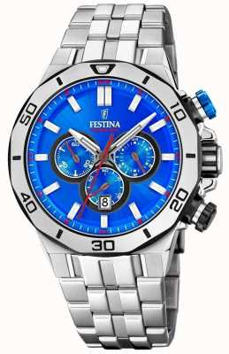 Festina Chrono Bike 2019 | Stainless Steel Bracelet | Blue Dial F20448/2