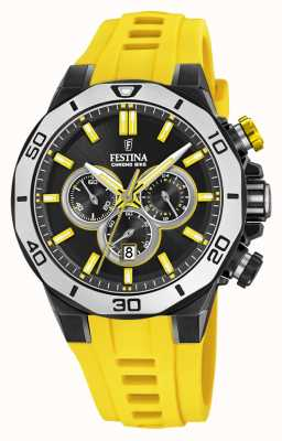 Festina Chrono Bike 2019 | Yellow Rubber Strap | Black Dial F20450/1