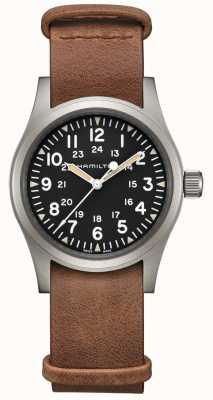 Hamilton | Khaki Field Mechanical | Black Dial | Brown Leather Strap H69439531