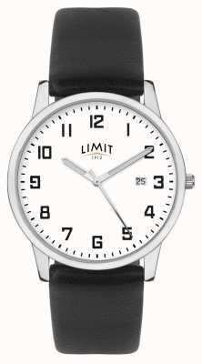 Limit | Men's Black Leather Strap | Silver/White Dial | 5741.01