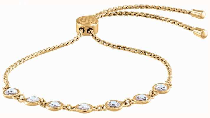 Tommy Hilfiger Classic Signature | Crystal Set | Gold Plated Bracelet 2780226