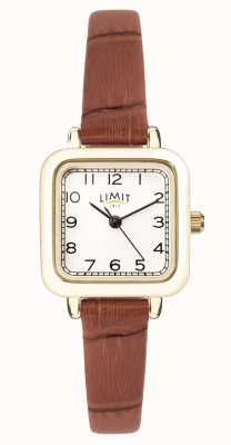 Limit | Women's Brown Leather Strap | White Dial | Gold Case | 60058.01