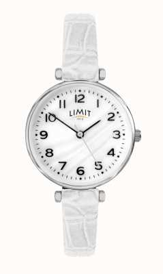 Limit | Womens White Leather Strap | Mother Of Pearl Dial | 60061.01
