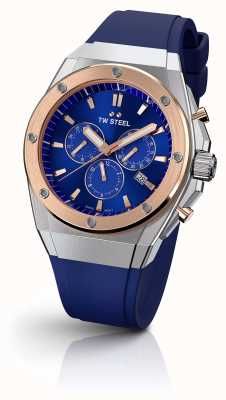 TW Steel | CEO Tech | Limited Edition | Chronograph | Blue Rubber | CE4046