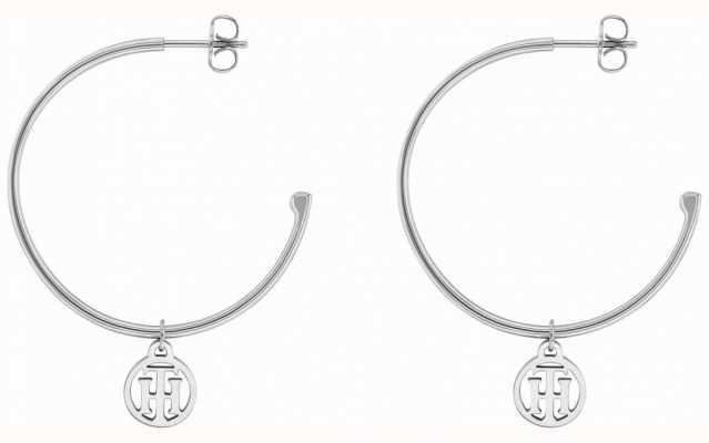 Tommy Hilfiger Womens Stainless Steel Hoop Earrings 2780023