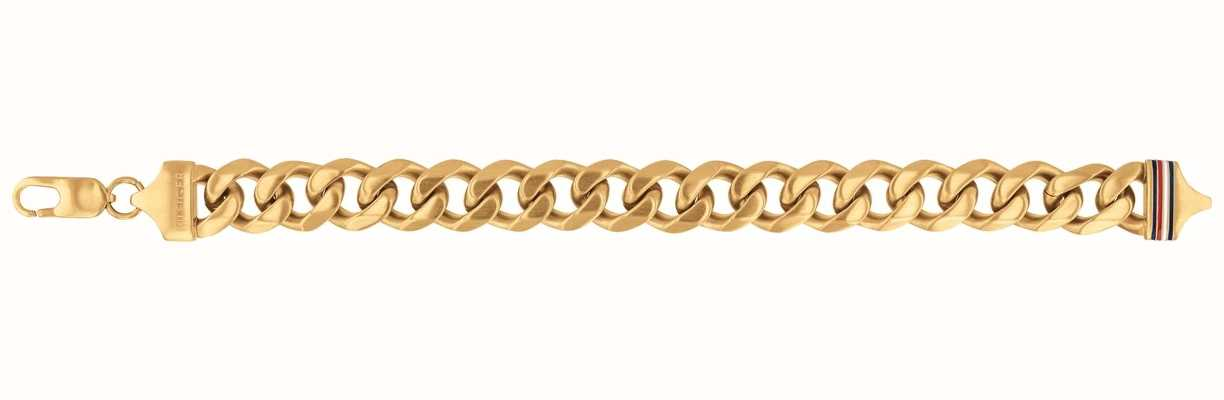 Tommy Hilfiger Mens Gold Plated Chain Bracelet 2790088