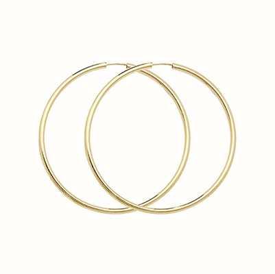 Treasure House 9ct gold 22mm Sleeper Earrings ES122