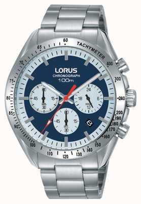 Lorus | Mens Chronograph | Stainless Steel Bracelet | Blue Dial | RT339HX9