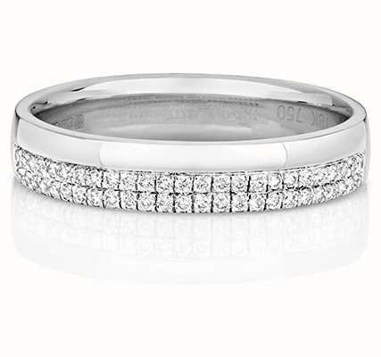 Treasure House 18k White Gold Micro Set Diamond Ring RDQ726W