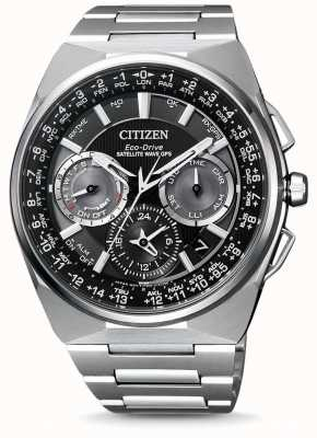 Citizen Mens Wave Satellite GPS Chronograph F900 Titanium Bracelet Black Dial Watch CC9008-84E