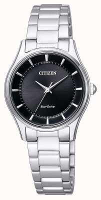 Citizen | Womens Eco-Drive | Stainless Steel Bracelet | Black Dial | EM0401-59E