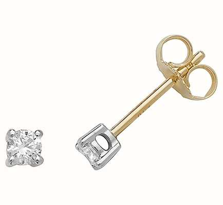Treasure House 18k Yellow Gold Diamond Stud Earrings EDQ185