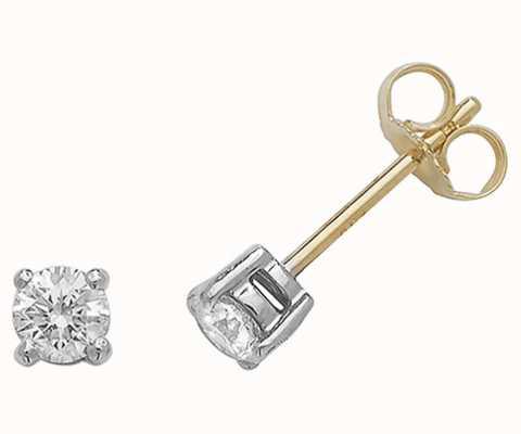 James Moore TH 18k Yellow Gold Diamond Stud Earrings EDQ188