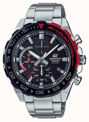 Casio |Edifice Chronograph | Stainless Steel Bracelet | Black Dial EFR-566DB-1AVUEF