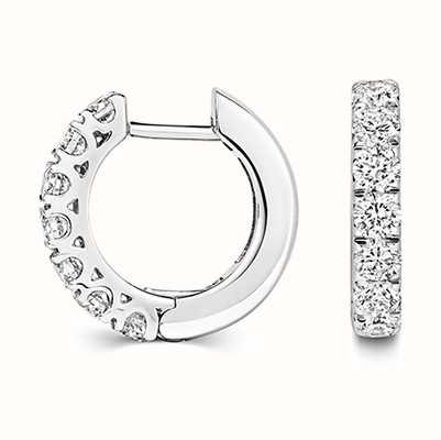 Treasure House 18k White Gold Diamond Hoop Earrings EDQ312W