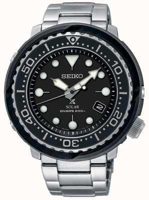 Seiko | Prospex | Solar | Diver's | Black Dial | SNE497P1