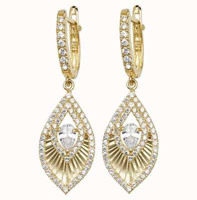 Treasure House 9k Yellow Gold Cubic Zirconia Drop Earrings ER1102