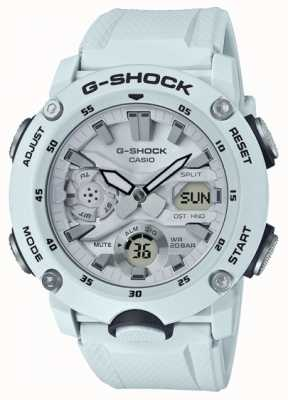 Casio | G-Shock Carbon Core Guard | White Rubber Strap | GA-2000S-7AER