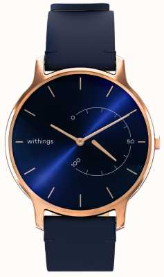 Withings Move Timeless Chic - Blue Leather, Rose Gold HWA06M-TIMELESS CHIC-MODEL 3-RET-INT