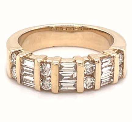 Perfection Diamond 9k Yellow Gold 1.00ct Diamond Cluster Ring G12383