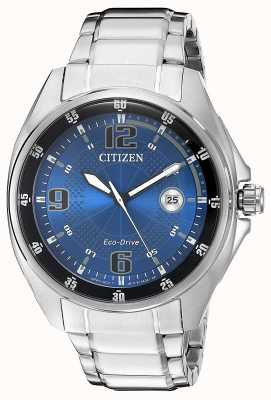 Citizen | Mens Eco-Drive | Blue Dial | Stainless Steel Bracelet | AW1510-54L
