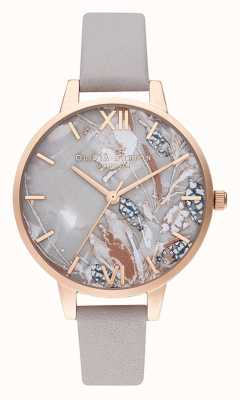 Olivia Burton | Womens | Abstract Florals Dial | Lilac Leather Strap | OB16VM37