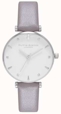 Olivia Burton | Womens | Queen Bee | Grey Leather Strap | OB16AM144