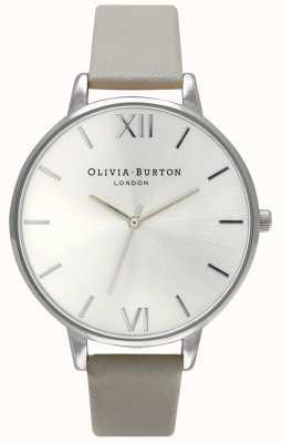 Olivia Burton | Womens | Silver Dial | Grey Leather Strap | OB15BD57