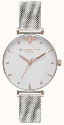 Olivia Burton | Womens | Queen Bee | Stainless Steel Mesh Bracelet | OB16AM140