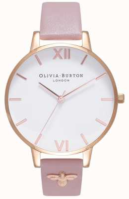 Olivia Burton | Womens | 3D Bee | Embellished Leather Strap | OB16ES15