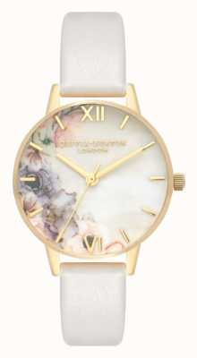 Olivia Burton | Womens | Watercolour Florals | Blush Leather Strap | OB16PP45
