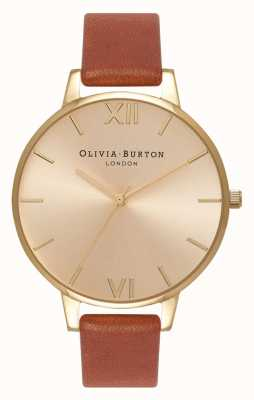 Olivia Burton | Womens | Sunray Dial | Tan Leather | OB13BD09