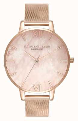Olivia Burton   Womens   Semi Precious   Rose Gold Mesh Bracelet   OB16SP01