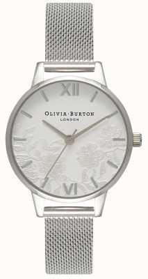 Olivia Burton | Womens | Lace Detail | Stainless Steel Mesh Bracelet | OB16MV54