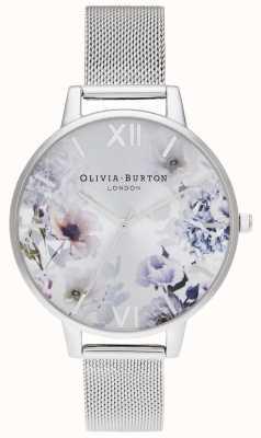 Olivia Burton | Womens | Sunlight Florals | Steel Mesh Bracelet | OB16EG117