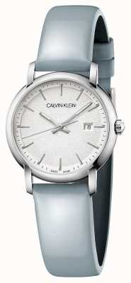 Calvin Klein | Womens Established | Blue Leather Strap | Silver Dial | K9H231V6