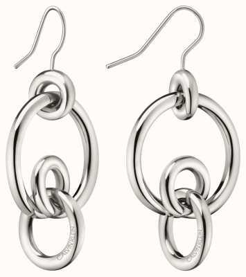 Calvin Klein   Womens Clink   Stainless Steel Silver Hoop Earrings   KJ9PME000200